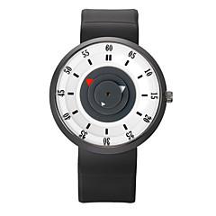 preiswerte Tolle Angebote auf Uhren-Herrn Armbanduhr Quartz Cool Silikon Band Analog Retro Freizeit Modisch Schwarz - Blau Rosa Schwarz / Silber Ein Jahr Batterielebensdauer