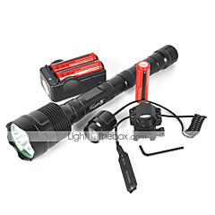 abordables Linternas-Linternas LED LED LED Emisores 4000 lm 1 Modo de Iluminación Adecuadas para Vehículos Camping / Senderismo / Cuevas, Ciclismo, Viaje