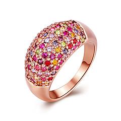 指輪セクシー / ファッション / ギフトボックス&バッグ / スタイル 結婚式 / パーティー / 日常 ジュエリー ゴールドメッキ 女性 8 1セット,ステートメントリング ローズレッド