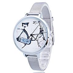 お買い得  大特価腕時計-女性用 子供用 ファッションウォッチ リストウォッチ クォーツ / ステンレス バンド 花型 つや消しブラック ゴールド