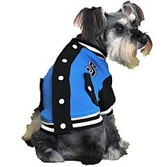 Koty Psy Bluzy Ubrania dla psów Zima Wiosna/jesień Blok kolorów Sportowy Gray Yellow Rose Czerwony Niebieski