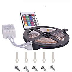 preiswerte LED Lichtstreifen-KWB 5m Lichtsets 300 LEDs 3528 SMD RGB Fernbedienungskontrolle / Schneidbar / Abblendbar 12 V / Verbindbar / Für Fahrzeuge geeignet / Selbstklebend / Farbwechsel / IP44