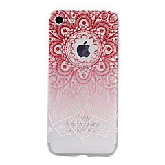 Назначение iPhone X iPhone 8 iPhone 7 iPhone 7 Plus iPhone 6 Чехлы панели Полупрозрачный Рельефный С узором Задняя крышка Кейс для Цветы