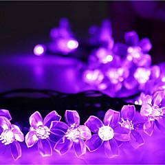 preiswerte LED Lichtstreifen-7m Leuchtgirlanden 50 LEDs LED Diode Warmes Weiß / RGB / Weiß Wiederaufladbar / Abblendbar / Wasserfest 100-240 V / IP44