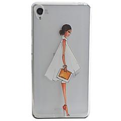 Для Кейс для Sony / Xperia XA С узором Кейс для Задняя крышка Кейс для Соблазнительная девушка Мягкий TPU для SonySony Xperia XA / Sony