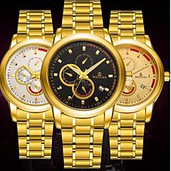BOSCK Heren Dress horloge mechanische horloges Kalender Waterbestendig Lichtgevend Roestvrij staal Band Luxe Informeel World Map Patroon