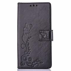 Недорогие Чехлы и кейсы для LG-Кейс для Назначение LG K8 LG LG K4 LG K10 LG K7 LG G5 Кейс для LG Бумажник для карт со стендом С узором Рельефный Чехол Бабочка Твердый