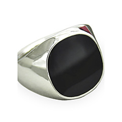 cheap Women's Jewelry-Men's Synthetic Sapphire Black Gemstone Statement Ring - Personalized, Vintage, Punk 8 / 9 / 10 / 11 / 12 Silver / Golden For Christmas Gifts Daily Casual