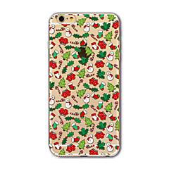 Custodia Per Apple iPhone X iPhone 8 Plus iPhone 7 iPhone 7 Plus iPhone 6 Traslucido Fantasia/disegno Custodia posteriore Natale Morbido