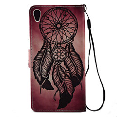 For sony xperia x xa case cover dreamcatcher mønster maleri pu lær materiale kort stent for xp xz