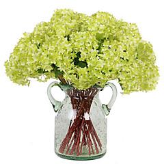 abordables Decoración de Oficina-Flores Artificiales 3 Rama Estilo moderno Hortensias Flor de Mesa