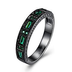 preiswerte Ringe-Damen Kristall / Kubikzirkonia Ring - Kreuz Luxus, Simple Style 6 / 7 / 8 Purpur / Grün / Blau Für Hochzeit / Party / Alltag
