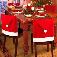 abordables Vajilla para Fiestas-6pcs silla de Navidad cubre para decoraciones de navidad y fiesta 65 * 50 cm