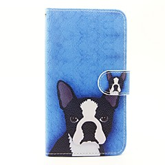Για wiko lenny 3 lenny 2 σκύλος πρότυπο pu δερμάτινη πλήρης θήκη με βάση και υποδοχή κάρτας για wiko lenny 2 lenny 3 ηλιοβασίλεμα 2