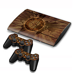 cheap PS3 Accessories-PS3 Slim 4000 Console Protective Sticker Cover Skin Controller Skin Sticker