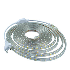 12m 220v higt heldere LED licht strip flexibel 5050 720smd drie kristal waterdicht lichtbalk tuinverlichting met eu stekker