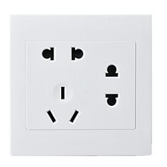 abordables Clavijas y Enchufes Eléctricos-siete hoyos panel de conexión de la PC de dos, dos, tres enchufe 86 Tipo de enchufes de pared oculta / cuatro paquete de venta