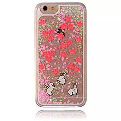 Недорогие Кейсы для iPhone 4s / 4-Кейс для Назначение Apple Кейс для iPhone 5 iPhone 6 iPhone 7 Движущаяся жидкость Прозрачный С узором Кейс на заднюю панель Рождество