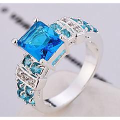 preiswerte Ringe-Damen Kubikzirkonia Ring - Zirkon, Aleación Personalisiert, Modisch 6 / 7 / 8 Rosa / Hellblau / Champagner Für Hochzeit / Party / Alltag