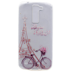 billige Etuier til LG-For Transparent Mønster Etui Bagcover Etui Eiffeltårnet Blødt TPU for LG LG K10 LG K8 LG K7 LG Nexus 5X LG X Power
