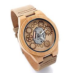preiswerte Tolle Angebote auf Uhren-Damen Sportuhr Militäruhr Armbanduhr Quartz 30 m Armbanduhren für den Alltag Cool Leder Band Analog Retro Freizeit Modisch Elfenbein - Beige