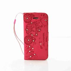 Назначение Кейс для iPhone 7 Кейс для iPhone 6 Кейс для iPhone 5 Чехлы панели Кошелек Бумажник для карт Стразы со стендом Чехол Кейс для