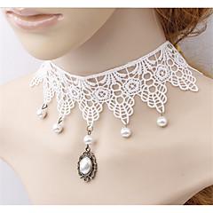 女性 カラー パールストランド タトゥーチョーカー 人造真珠 真珠 レース タトゥデザイン ファッション あり ジュエリー 用途 結婚式 パーティー