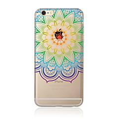 Для Полупрозрачный / С узором Кейс для Задняя крышка Кейс для Мандала Мягкий TPU AppleiPhone 7 Plus / iPhone 7 / iPhone 6s Plus/6 Plus /