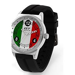Homme Montre de Sport Montre Tendance Montre Bracelet Quartz / Silikon Bande Pour tous les jours Noir