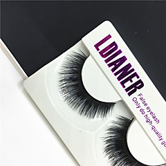 1 pair Cílios Cílios Tiras Completas de Cílios Olhos Grossa Volumizado Confeccionada à Mão Cílios de Lã Animal Banda Preta 0.10mm 12mm