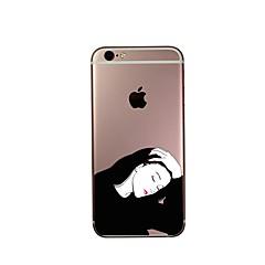 Назначение Чехлы панели Ультратонкий С узором Задняя крышка Кейс для Соблазнительная девушка Мягкий Термопластик для AppleiPhone 7 Plus