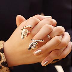 패션 기질 엄지 손가락 손톱 링 골드 NND 실버 두 가지 색상의 정장 2 개 / 세트