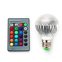 preiswerte LED-Birnen-3.5W 200-300lm E14 E26 / E27 B22 Smart LED Glühlampen G60 1 LED-Perlen Integriertes LED Abblendbar Dekorativ Ferngesteuert RGB 85-265V