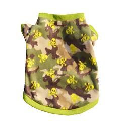 お買い得  犬用ウェア&アクセサリー-ネコ 犬 Tシャツ 犬用ウェア カモフラージュ 迷彩色 フリース コスチューム ペット用 夏 男性用 女性用 カジュアル/普段着 ファッション