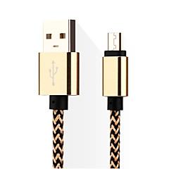 voordelige Telefoonkabels & Adapters-Micro USB 3.0 USB kabeladapter Gevlochten Kabel Voor Samsung Huawei LG Nokia Lenovo Motorola Xiaomi HTC Sony 14*5*1 cm Nylon