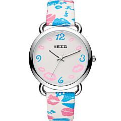 KEZZI Damskie Modny Zegarek na nadgarstek Na codzień Kwarcowy / Skóra Pasmo Na co dzień Nowoczesne Niebieski Czerwony Różowy Purpurowy