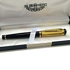 Pióro Długopis Wieczne pióra Długopis,Metalowy / Plastik Beczka Czarny Atrament Kolory For Przybory szkolne Artykuły biurowe Paczka PEN