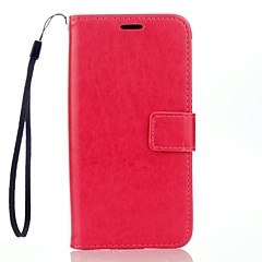 Volledige behuizing Portemonnee / Kaarthouder / met standaard Effen kleur PU-leer Hard Geval voor LG LG K10 / LG K7 / LG G4 / LG G3