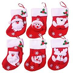 6szt / dużo Merry Christmas skarpety Christmas dekoracji dla domu Santa Claus Christmas gift dekoracji ozdoby