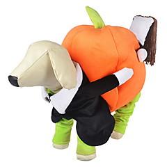 お買い得  犬用ウェア&アクセサリー-犬 コスチューム / ジャンプスーツ 犬用ウェア カボチャ オレンジ ファブリック コスチューム ペット用 男性用 / 女性用 コスプレ / ハロウィーン