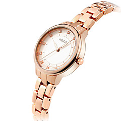 preiswerte Tolle Angebote auf Uhren-KEZZI Damen Armbanduhr Quartz Cool Imitation Diamant / Edelstahl Band Analog Freizeit Modisch Elegant Silber / Rotgold - Silber Rotgold