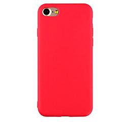 Недорогие Кейсы для iPhone-Кейс для Назначение Apple iPhone X / iPhone 8 / iPhone 7 Ультратонкий / Матовое Кейс на заднюю панель Однотонный Мягкий ТПУ для iPhone X / iPhone 8 Pluss / iPhone 8