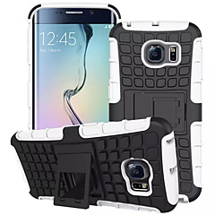 voordelige Galaxy S6 Hoesjes / covers-voor de Samsung Galaxy S7 rand geval band hybride tpu pc harde schokbestendige stand trap deksel galaxy s6 S5 S4 mini edge plus