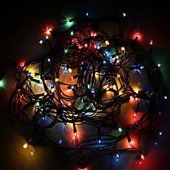 お買い得  LED ストリングライト-4m ストリングライト 100 LED ランダムカラー 調光可能 / #