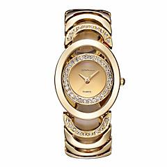 voordelige Dameshorloges-Dames Kwarts Polshorloge Armbandhorloge Skeleton horloge Strass / imitatie Diamond Legering Band Amulet Glitter Vintage Informeel Dress