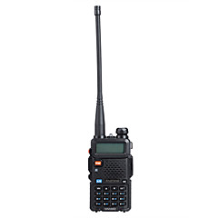 "Baofeng uv5r 1.5 ""LCD 5W 136 ~ 174mhz / 400 ~ 480mhz dual band walkie talkie 1-LED zseblámpa (US Plug)"