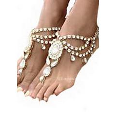 Mujer Brazalete tobillo/Pulseras y Brazaletes Piedras preciosas sintéticas Brillante Legierung Joyería Destacada Europeo Joyería de Lujo