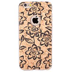 Для Рельефный / С узором Кейс для Задняя крышка Кейс для Цветы Мягкий TPU для Apple iPhone 6s Plus/6 Plus / iPhone 6s/6 / iPhone SE/5s/5