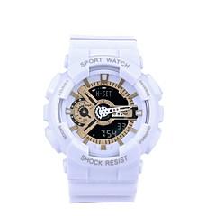 preiswerte Tolle Angebote auf Uhren-SANDA Sportuhr Smartwatch Armbanduhr Digital Japanischer Quartz 30 m Wasserdicht Chronograph LED Silikon Band Analog-Digital Freizeit Modisch Schwarz / Weiß / Blau - Goldenschwarz Schwarz / Blau Gold