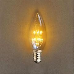お買い得  LED 電球-1個 1 W 40 lm E14 LEDボール型電球 C35 20 LEDビーズ DIP LED 装飾用 イエロー 220-240 V / 1個 / RoHs